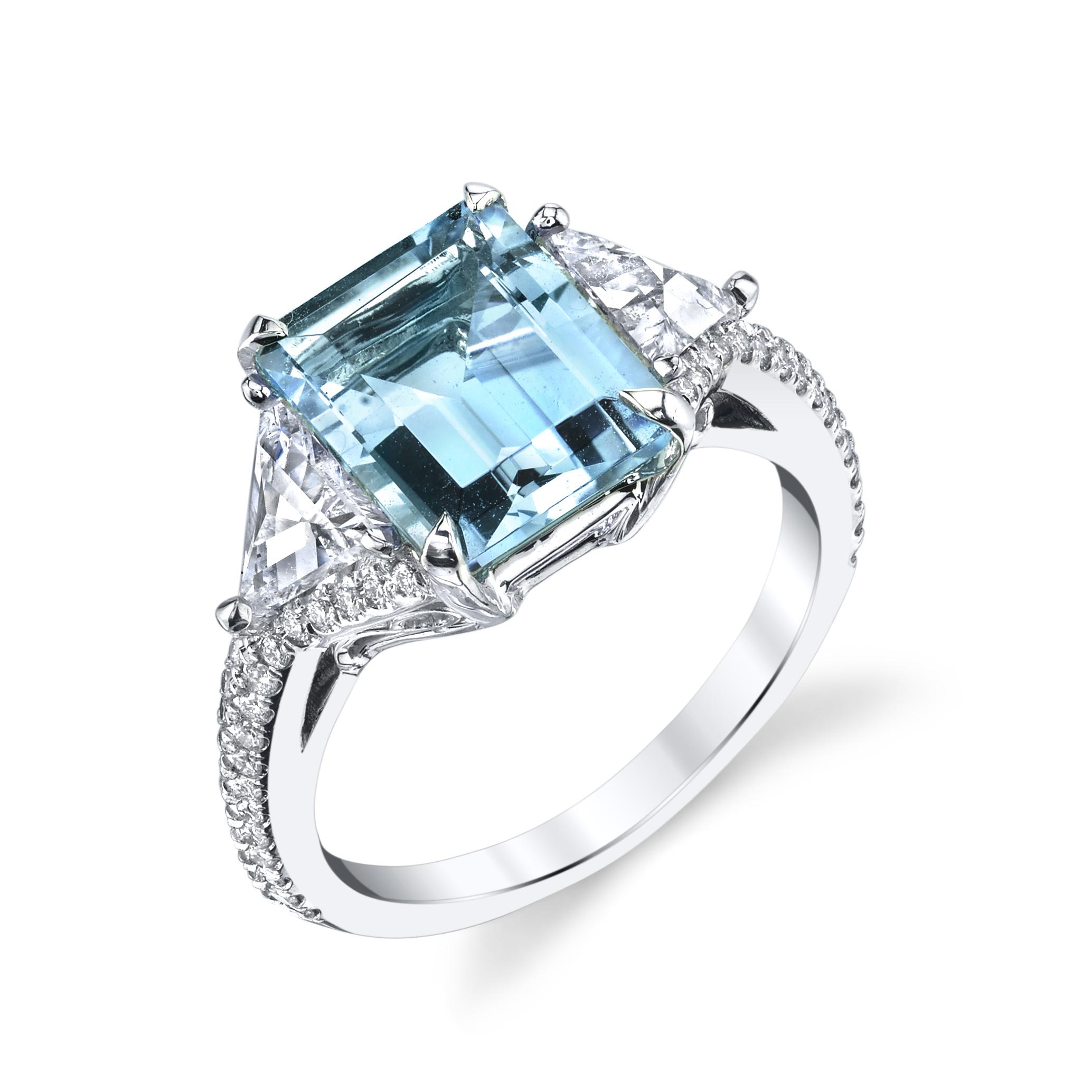 Beverly Aquamarine Ring U2013 23rd Street Jewelers